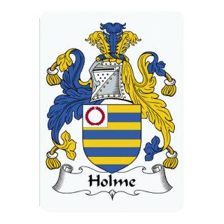Holme Family Crest Card