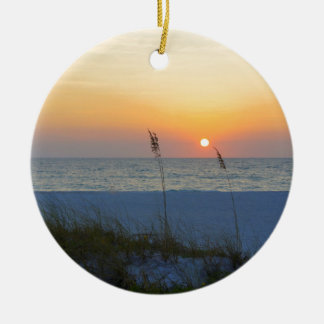 Holmes Beach Sunset Ceramic Ornament