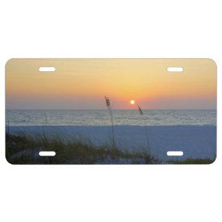 Holmes Beach Sunset License Plate
