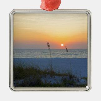 Holmes Beach Sunset Metal Ornament