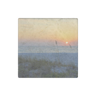 Holmes Beach Sunset Stone Magnet