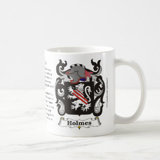 Holmes Family Coat of Arms Mug