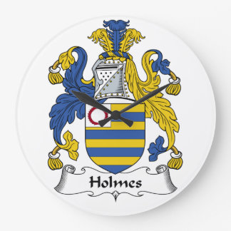Holmes Family Crest Large Clock