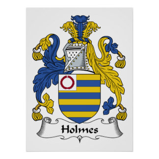 Holmes Family Crest Poster