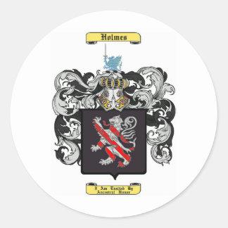 Holmes (Inglaterra) Pegatina Redonda