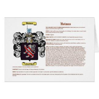 Holmes (inglés (significado)) tarjeta de felicitación