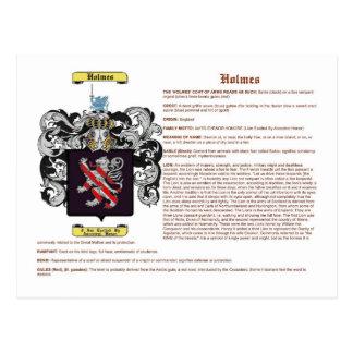 Holmes (inglés (significado)) tarjetas postales