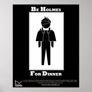 Holmes para la cena póster