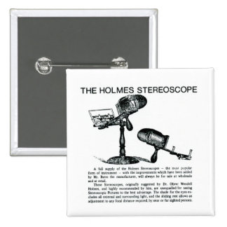 Holmes Stereoscope Advertisement - Vintage Button