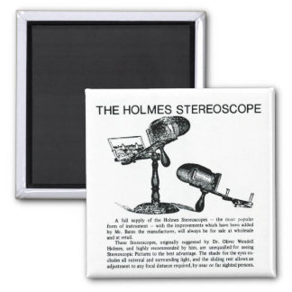 Holmes Stereoscope Advertisement - Vintage Magnet