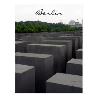 holocaust berliner memorial postcard