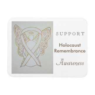 Holocaust Remembrance Awareness Ribbon Magnet