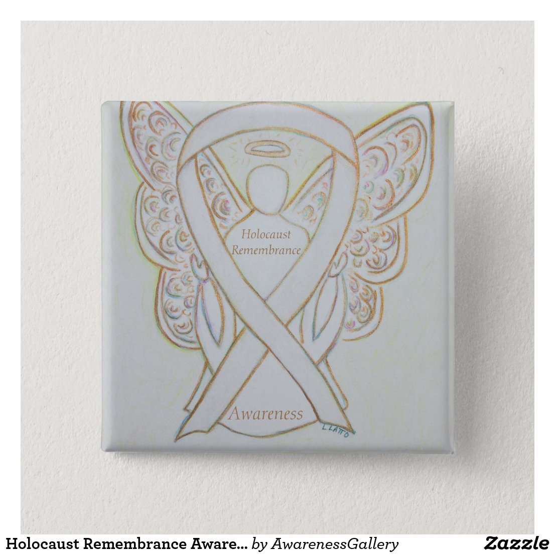 Holocaust Remembrance Awareness White Ribbon Pin