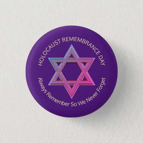 Holocaust Remembrance Day Button