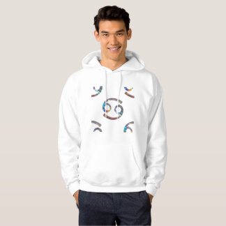 hologram cancer mens hoodie hooded sweatshirt