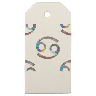 hologram Cancer Wooden Gift Tags