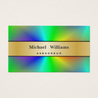 HOLOGRAM GOLDEN PAPER PROFESSIONAL COLORFUL PEARL BUSINESS CARD