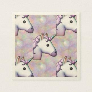hologram unicorn emoji paper napkins