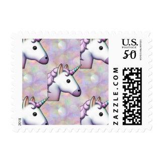 hologram unicorn emoji postage postal stamps