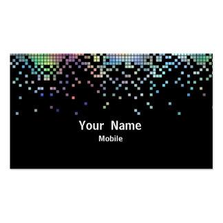 Holograma elegante de las lentejuelas plantilla de tarjeta personal