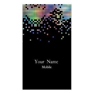 Holograma elegante de las lentejuelas tarjetas de visita