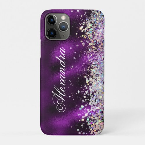 Holographic Bling Luxury Sparkle Glitter Custom iPhone 11 Pro Case