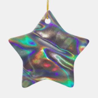 holographic ceramic ornament