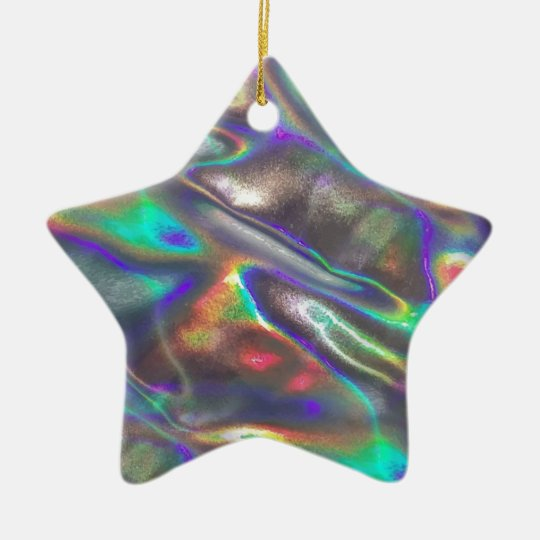 holographic ceramic ornament - Holographic Christmas Decorations