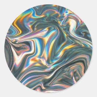 Holographic Chrome Classic Round Sticker