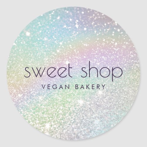 Holographic Glitter Bakery Sweets Classic Round Sticker