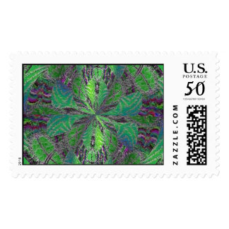 Holographic Greenery Postage