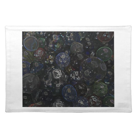 Holographic Marbles Cloth Placemat