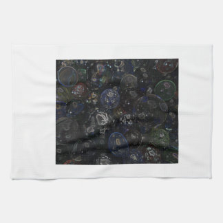 Holographic Marbles Hand Towels