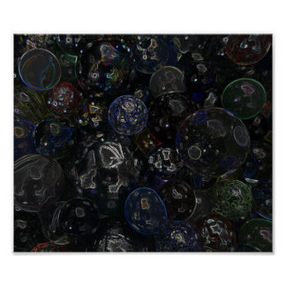Holographic Marbles Poster