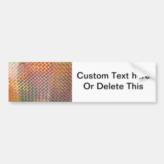holographic metal photograph colorful design bumper sticker