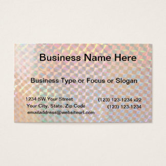 holographic metal photograph colorful design business card