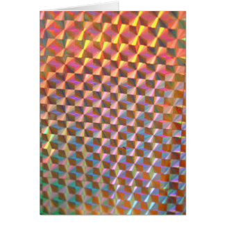 holographic metal photograph colorful design greeting card