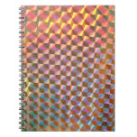 holographic metal photograph colorful design note books