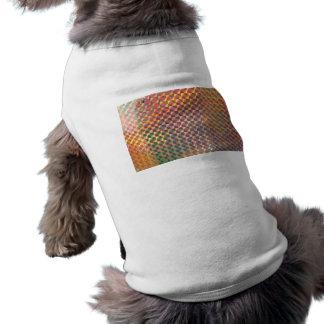 holographic metal photograph colorful design pet t-shirt