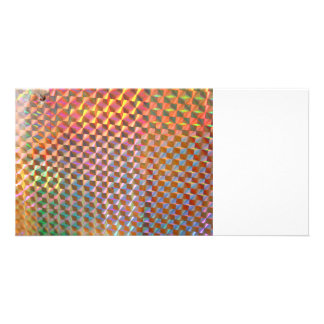 holographic metal photograph colorful design personalized photo card
