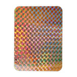holographic metal photograph colorful design rectangular magnet