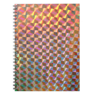 holographic metal photograph colorful design spiral notebook