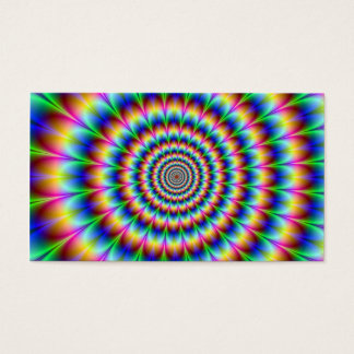 Holographic Optical Illusion Spiral Rainbow Business Card