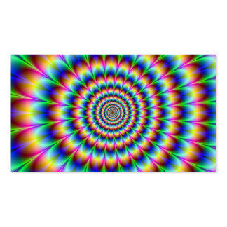Holographic Optical Illusion Spiral Rainbow Business Card Templates