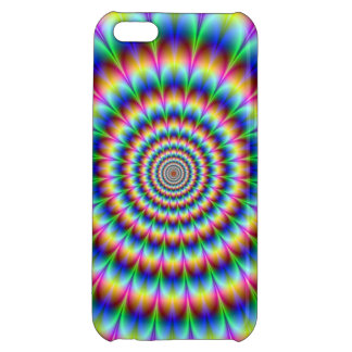 Holographic Optical Illusion Spiral Rainbow Case For iPhone 5C