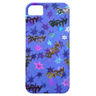 Holographic Party confetti and blue stars iPhone SE/5/5s Case