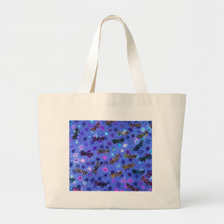 Holographic Party confetti and blue stars Jumbo Tote Bag