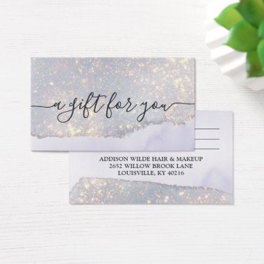 Holographic Purple Glitter Luxe Glitter Gift Card