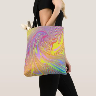 Holographic Rainbow Abstract Tote Bag