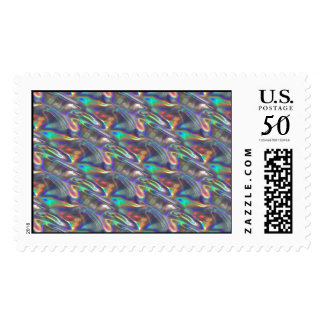 holographic silver postage
